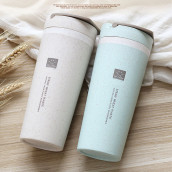 450ML Wheat Straw Double Insulated Cup