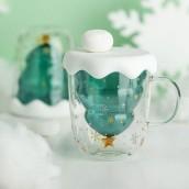 250ML Christmas-Tree Glass Mug