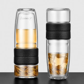 500ML Portable Glass Bottle with Infuser