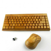 Mini Bamboo Keyboard Set