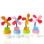Flower Pot Shaped Mini USB Fan