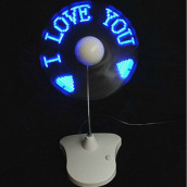LED Flash The Word Fan