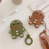 Gingerbread Man AirPods Silicone Headphone Case