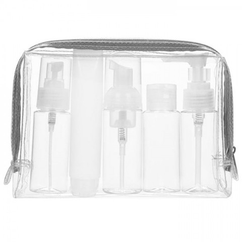 Travel Bottles Kit in PVC Toiletries Pouch (Airline Approved Capacity), Health Gifts, business gifts