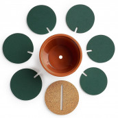 6-Piece Green Coaster Set