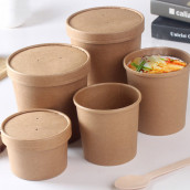 Disposable Kraft Paper Food Containers