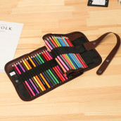 Color Pencils with Roll Case
