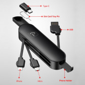 Multipurpose Charging Cable with Phone Holder (with Type-C)