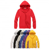 Solid Colored Zip Up Sweatshirts