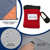 Pocket Outdoor Blanket with Compass