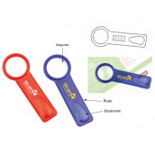 Bookmark with Magnifier and Ruler